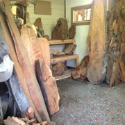 LARGE REDWOOD SLABS IN STOCK