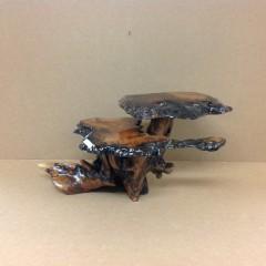 2 tier MYRTLEWOOD TOP REDWOOD BASE 12t 24w 12d resin fin. $200 #MI11