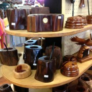 wood items made on-site by artisans